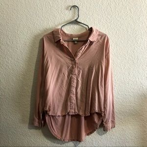 A New Day Pink Button Up Blouse